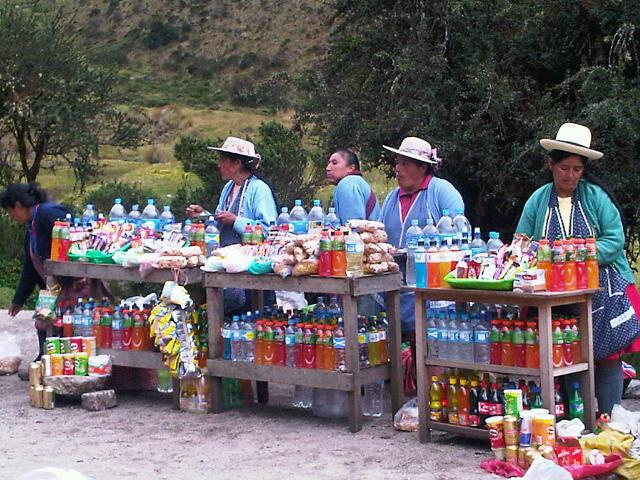 Ladies sell snacks on the Inca Trail