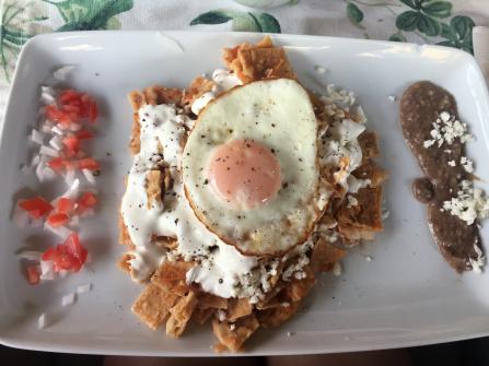Be Playa breakfast tortillas with fried egg