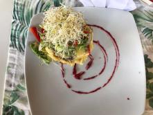 Be Playa breakfast SPanish tortilla with vegetables