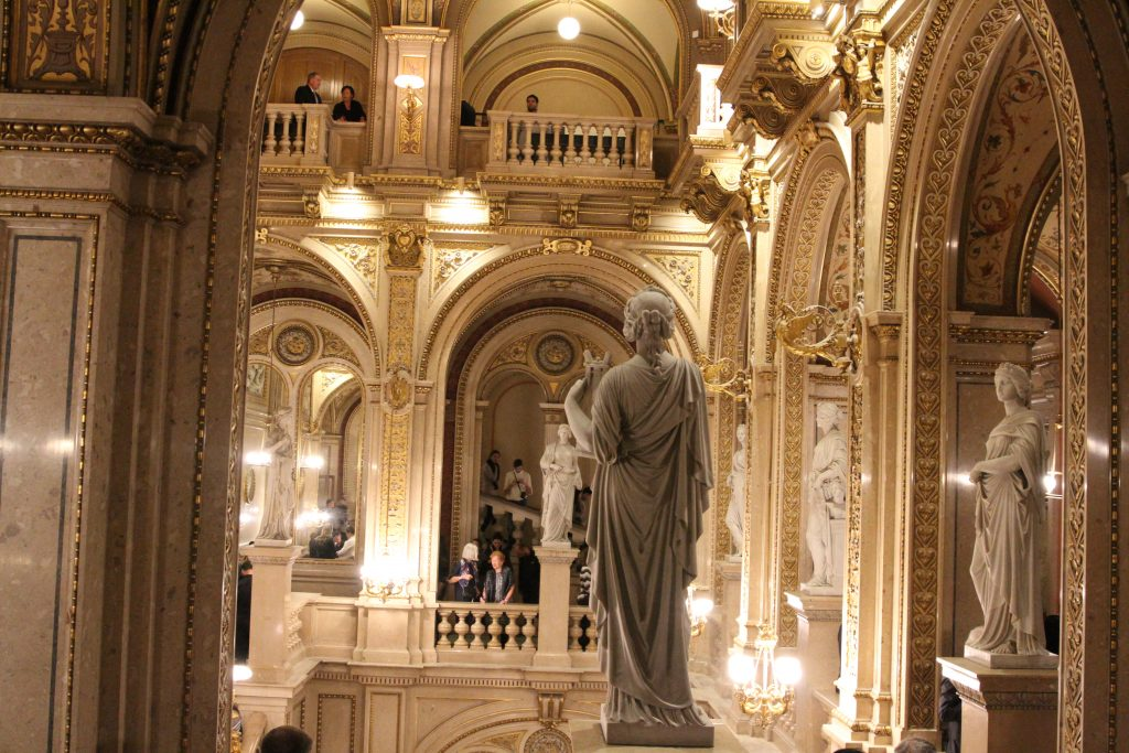 statue inside opera house staircase